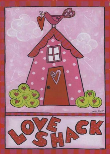 Love Shack  Garden Flag