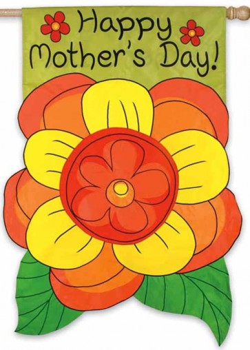 Mothers Day Corsage House Flag