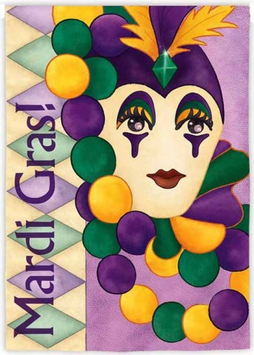Mardi Gras Mask  House Flag