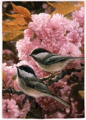 Chickadee Bloom  House Flag