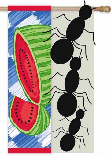 Watermelon Picnic   House flag
