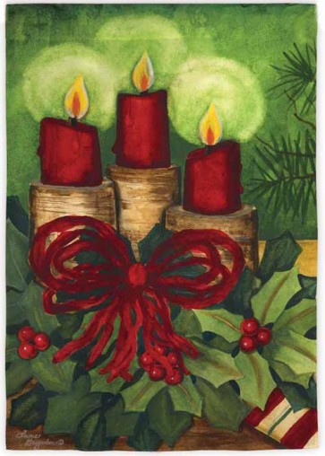 Holiday Candles House Flag