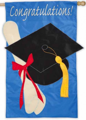 Graduation Congratulations House Flag