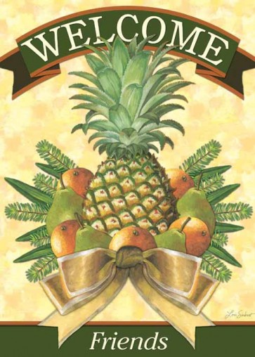 Pineapple and Greenery Garden  Flag