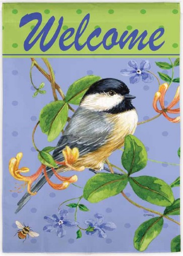 Bird and Bee Welcome   Garden Flag
