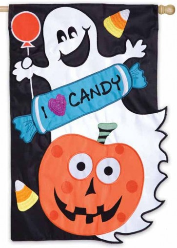 Candy Crew Halloween House Flag
