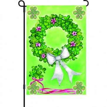 Shamrock Wreath Garden Flag