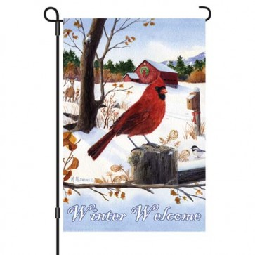 Cardinal Morning Garden Flag