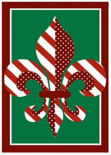 Fleur de Lis for the Holidays      House Flag