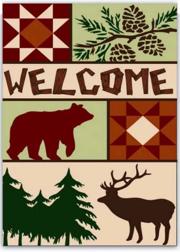 Welcome to the Woods    Garden Flag