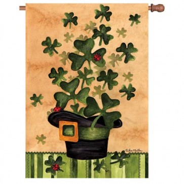 Shamrock Burst  House Flag