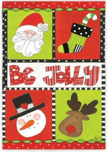 Be Jolly by Golly Garden Flag