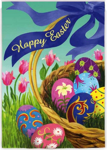Elegant Easter Basket House Flag