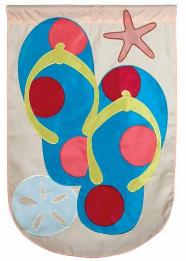 Polka Dot Flip Flops House Flag