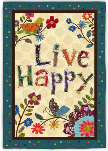 Live Happy House Flag