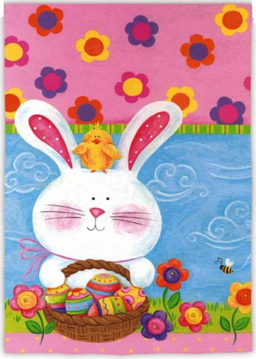 Easter Bunny and Chick   Garden Flag
