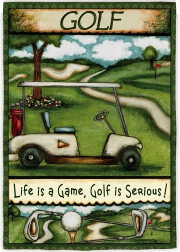 Golf is Serious  Garden Flag