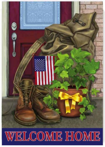 Soldier Welcome Home  Garden Flag