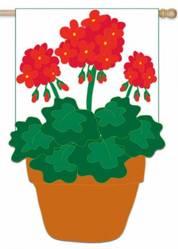 Spring Flower Pot    Garden Flag