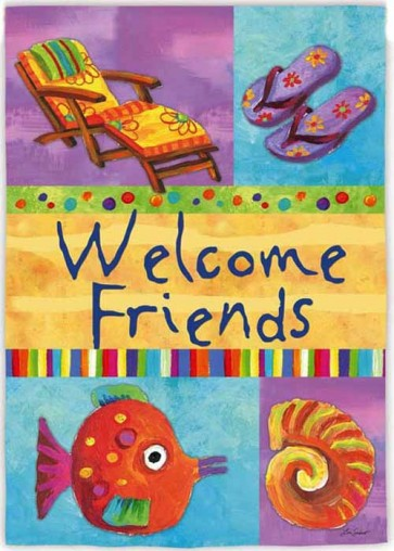 Welcome Beach friends Garden Flag