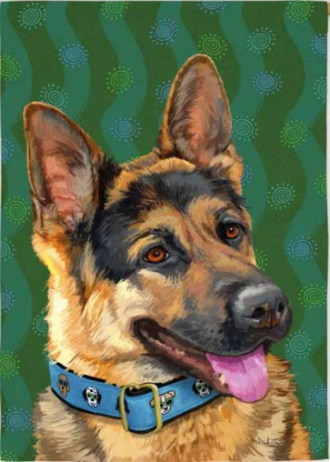 German Shepherd    House Flag