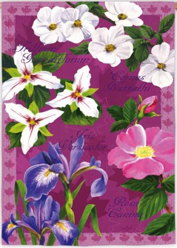 Floral Collection Garden Flag