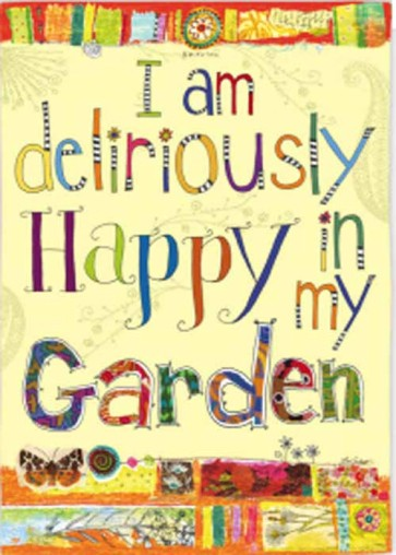 Deliriously Happy Garden Flag