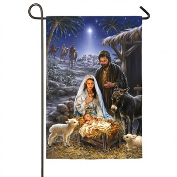 A Savior is Born Garden Flag