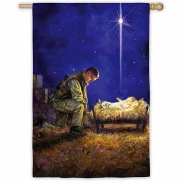 A Soldiers Christmas House flag