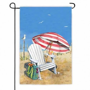 Adirondack on Beach Garden Flag