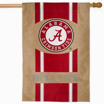 Alabama Burlap House Flag
