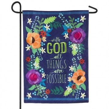 All Things are Possible Garden Flag
