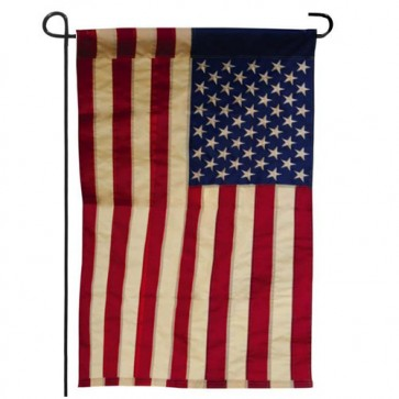 American Flag Tea Stained Garden Flag