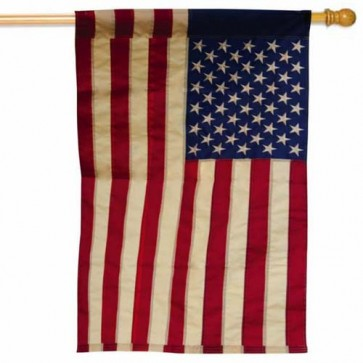 American Flag Tea Stained House Flag