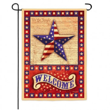 American Star and Heart Garden Flag