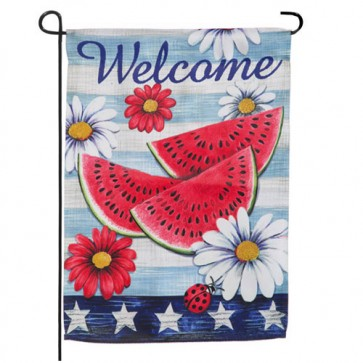 American Watermelon Garden Flag