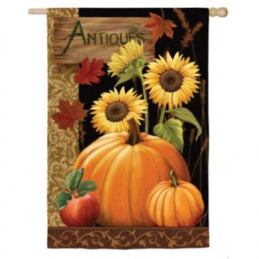 Antiques For Sale Fall House Flag  (2 Different Sides)