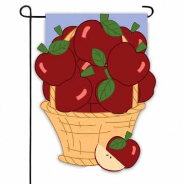 Apple Basket Garden Flag