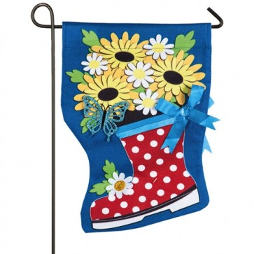April Showers Burlap Garden Flag