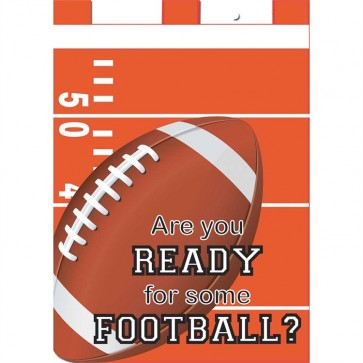 Are You Ready for Some Football Orange and White Fall House Flag