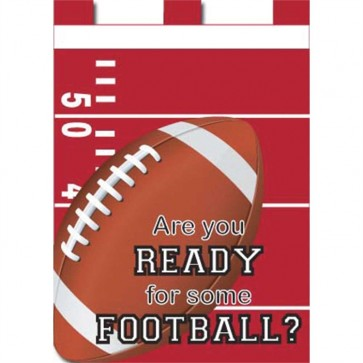 Are You Ready for Some Football Red and White Fall House Flag