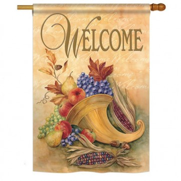 Autumn Cornucopia Fall House Flag
