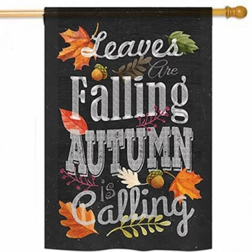 Autumn is Calling House Flag