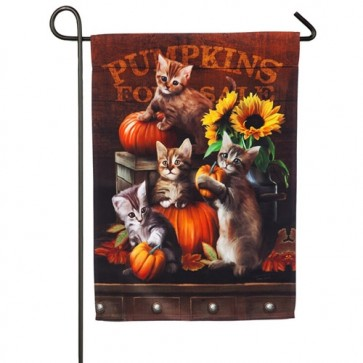 Autumn Kittens Fall Garden Flag