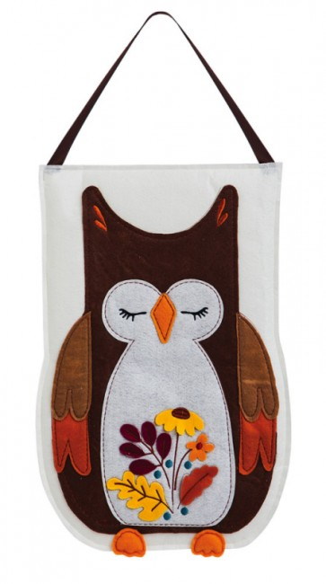 Autumn Owl Felt Door Hanger