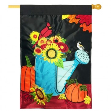 Autumn Blessings Fall House Flag
