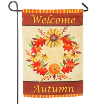 Autumn Wreath Fall Garden Flag