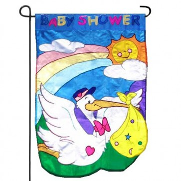 Baby Shower Garden Flag