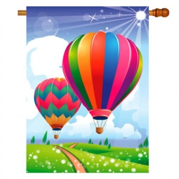 Balloon Festival House Flag