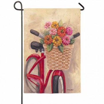 Flower Basket Garden Flag